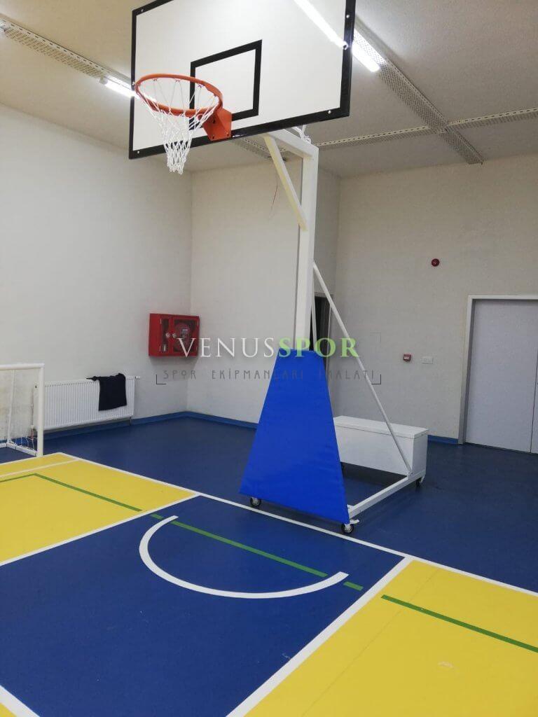 Seyyar Fiber Panyalı Basketbol Potası